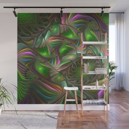 Colorful and Luminous, Abstract Fractal Art Wall Mural