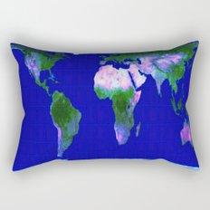 World Map : Gall Peters Rectangular Pillow
