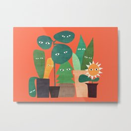 The plants are watching (paranoidos maximucho) Metal Print