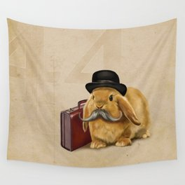 Commuter Bunny Wall Tapestry