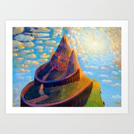 Story Book Fairy-Tale Castle Amid the Mountains landscape by Mikalojus Konstantinas Čiurlionis Art Print