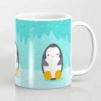 penguin Mugs featuring Penguin by eDrawings38
