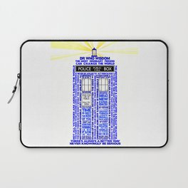 Doctor Who TARDIS Words of Wisdom Laptop Sleeve