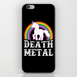 Death Metal Unicorn iPhone Skin