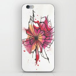 Pink and yellow Flower Explosion  iPhone Skin