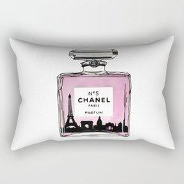 Paris perfume fashion illustration eiffel tower Rectangular Pillow