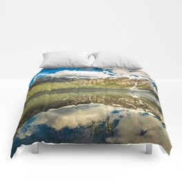 Mountains Reflection Comforters