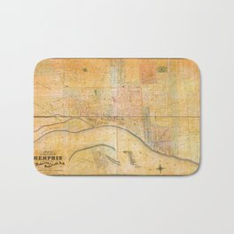 Map of the City of Memphis, Tennessee (1858) Bath Mat