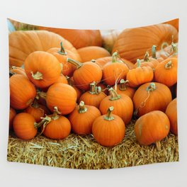 Pumpkin Patch (Color) Wall Tapestry