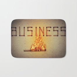 fired business Bath Mat