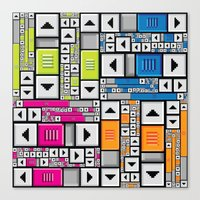 popart Canvas Prints featuring ScrollBar PopArt by Roberlan Borges