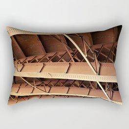 Rivets and Girders Rectangular Pillow