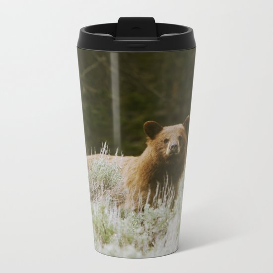 Bush Bear Metal Travel Mug