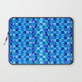 Blue Color Blocks By Sharon Cummings Laptop Sleeve