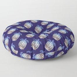 Turtle beach pattern Floor Pillow