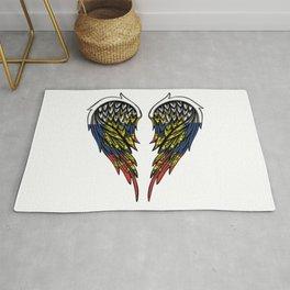 Russian wings art Rug