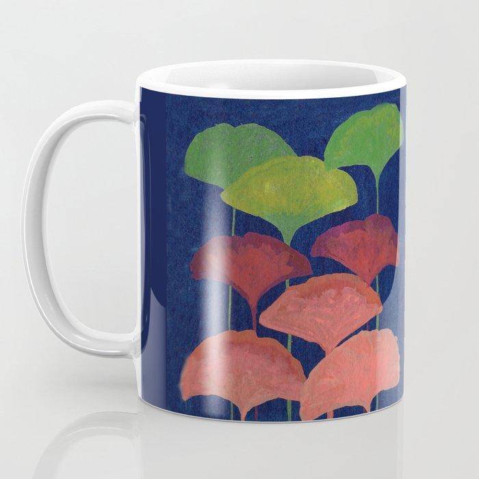 Ginkgo Leaf gouache painting design art print Coffee Mug