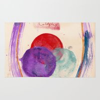 coldplay Area & Throw Rugs featuring Painting & Coldplay by Hector Pahaut
