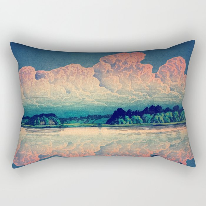 Admiring the Clouds in Kono Rectangular Pillow