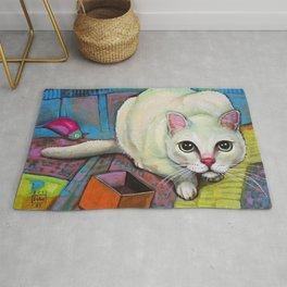 Luna - crouching cat, hidden cat Rug