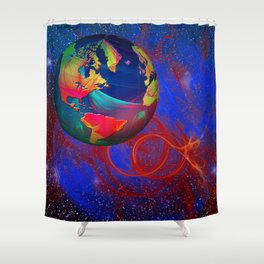 Fractal World Shower Curtain