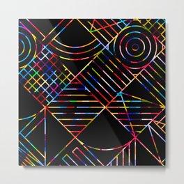 Rainbow Whackadoodle Metal Print