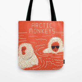 Actual Arctic Snow Monkeys Tote Bag