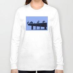Blue Pelicans Long Sleeve T-shirt