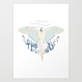 cirque parrot! Art Print