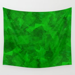 Emerald Fragments Wall Tapestry