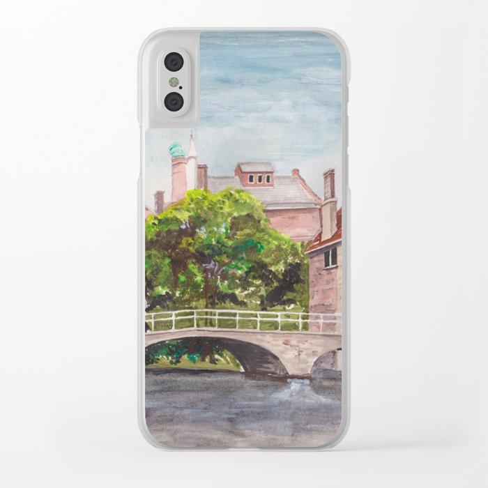 Bruges Bridge Clear iPhone Case