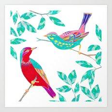 Songbirds 1 Art Print