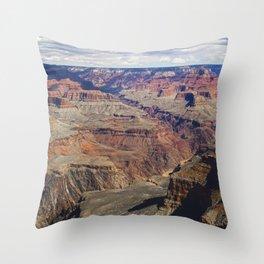 The Grand Canyon South Rim Throw Pillow