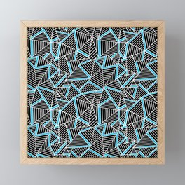 Ab 2 Repeat Blue Framed Mini Art Print