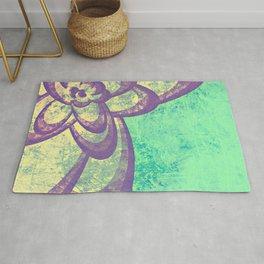 Purple & Green Flower Rug