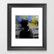 Lonely Country Mile Framed Art Print
