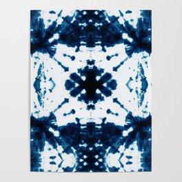 Velvet Shibori Blue Poster