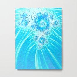 Abstract Christmas Ice Garden Metal Print