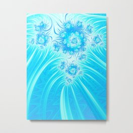 Abstract Christmas Ice Garden Metal Print
