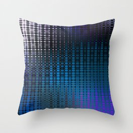 Retro Grid Nightclub Lights Throw Pillow
