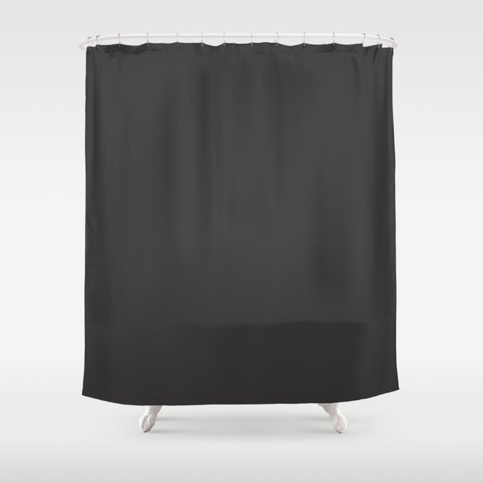 Solid Charcoal Gray Grey Shower Curtain