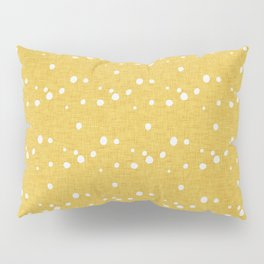Modern Farm House Polka Dots Mustard Pillow Sham
