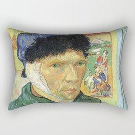 Self Portrait With Bandaged Ear - Van Gogh Rectangular Pillow