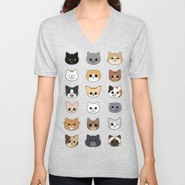 Happy Cats Unisex V-Neck