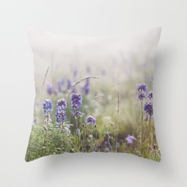 Moody Meadow Mornings Throw Pillow