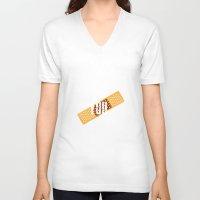 broken V-neck T-shirts featuring Broken by jakeldesign