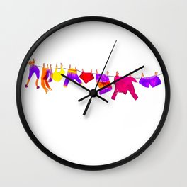 The clothesline Wall Clock