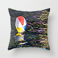 pool Throw Pillows featuring Pool by Renee Trudell