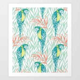Tropical Pastels Art Print