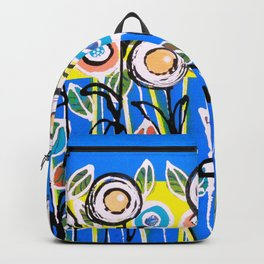 Fresh Blue Flowers Backpack